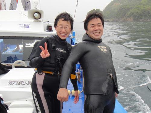 井上さんとガイド神崎