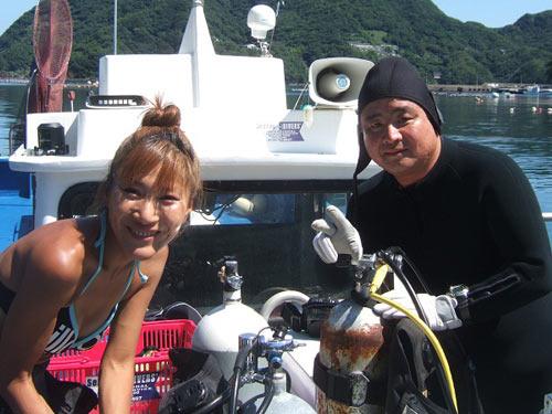 ガイド美和ちゃんと内藤さん