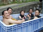 お風呂で再会、櫻井さん・西田さんチーム