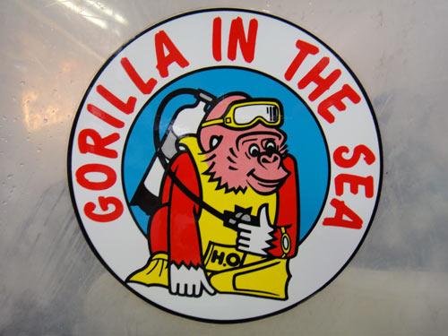 チーム「ゴリラ」のステッカー