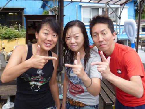 秋野さん&チボちゃん&三戸さん